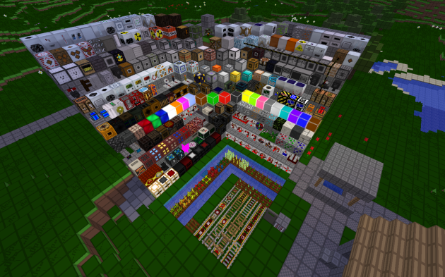 The gluttony of blocks in Tekkit.