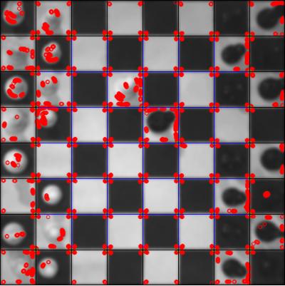 Corner detection results visualization.