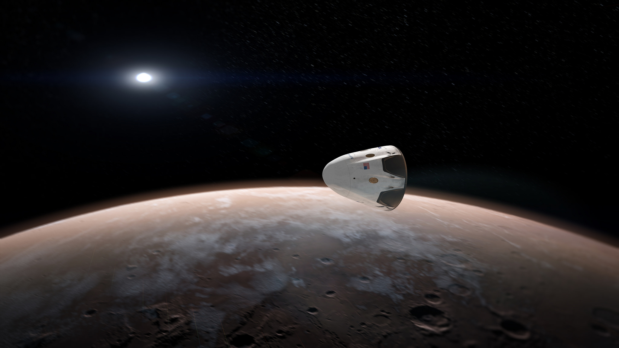 Red Dragon over Mars