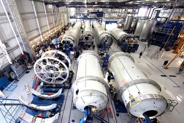 Falcon 9 Production Floor